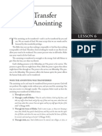 Lesson 6 - The Transfer of the Anoiting
