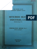 USSBS Report 16, Mitsubishi Heavy Industries