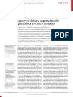Systems Biology Approaches for Predicting Evolution