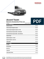 Accord Tourer Accessories 2012