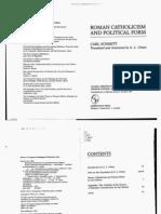 47489812 Carl Schmitt Roman Catholic Ism and Political Form