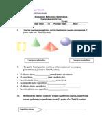 Evaluación Educación Matemática 3° cuerpos geométricos