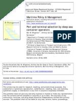 Wiegmans Et Al, Port and Terminal Selection, Martime P & M, 2008