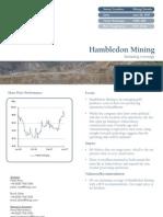 Hambledon Mining 2007 Initiating Coverage - 28 June 2007