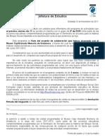 Carta a los padres para participar en el proyecto Memoria de Andalucía