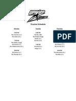 2011-2012 Practice Schedule