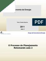Economia Da Energia 2011 Aula 3 07 de Novembro