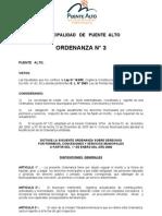 Ordenanaza de Derechos Municipales_Puente Alto