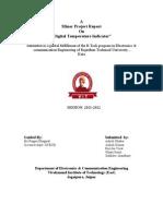 Minor Projrct Report Format
