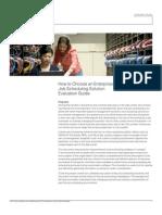 Enterprise Job Scheduling Evaluation Guide