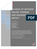 10 Ideas to Optimize Online Training