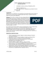 LCSW Job Description