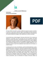 """""""La hora de la reconexión"""", por Fabiana Fondevila, en Revista Sophia online"""