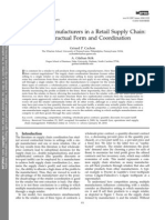 Competing Manufacturers in a Retail Supply Chain