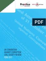 UN Convention Against Corruption 2011, Civil Society Review