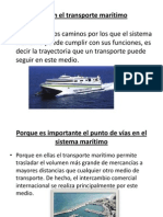Vías en el transporte marítimo
