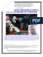 Non-Consensual Medical Research in Africa. 2011. The Rebecca Project
