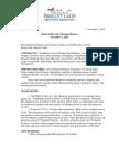 MGA Board Minutes, 1 Nov 2011