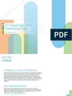 Cisco Q1FY12 Earnings Slides