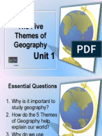 The Five Themes of Geography-Class Notes