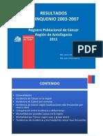 Registro Poblacional de Cáncer Antofagasta 2011