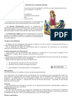 TÉCNICAS DE LA INVESTIGACIÓN+ EJEMPLOS