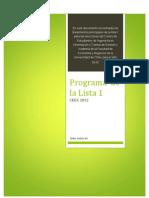 Programa de La Lista 1