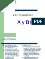 Las Vitaminas a y B1