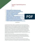 Modelo de formulación de curso de Capacitación para un Desempeño Efectivo