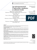 Explaining Entrepreneurial Intentions of University Students- A Cross-cultural Study