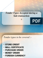 Tender Types Accepted During a Sale Transaction -2
