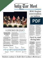 The Daily Tar Heel for November 10, 2011