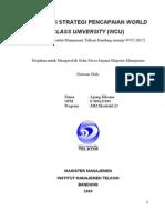 Evaluasi Strategi Pencapaian World Class University