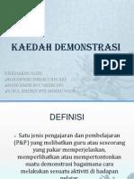 KAEDAH DEMONSTRASI