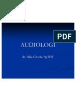 Kuliah Dr.abla AUDIOLOGI