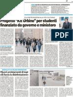 """Progetto """"Kit Urbino"""" per studenti finanziato da governo e ministero / Master su neuropsicologa - Il Resto del Carlino del 9 novembre 2011"""