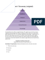 Bloom's Original & Revised Taxonomy Pyramids
