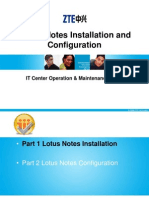 Lotus Notes Installation and Configuration
