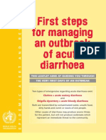 Who-managing Diarrhea Outbreak