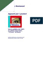 Diario 1997. Appunti per i posteri