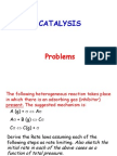 7.Catalysis Problems