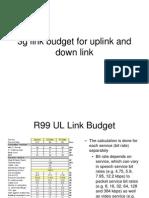 3g Link Budget for Uplink and Down Link