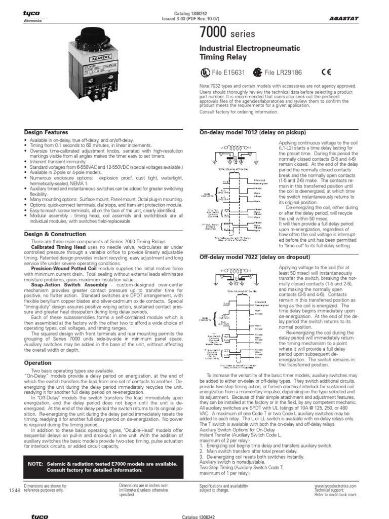Timer Relay Switch Dpdt 110vac 10a 8 Pin Octal Power Circuit Diagram