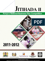 Jitihada II Business Plan Competition _ Sponsorship Package 2011