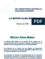 mision alma mater