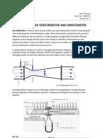 Calibration of Venturimeter and Orificemeter