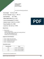 Assignment 1- Design a Common Emitter Amplifier
