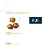 Feasibility and Technical Report on Onion Cultivation in Conakry-Jravishanker-2005