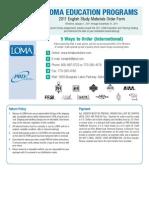 Textbook Order Form International