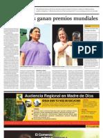 Dos Peruanas Ganan Premios Mundiales